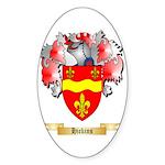Hickins Sticker (Oval 50 pk)