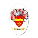 Hickes 35x21 Oval Wall Decal