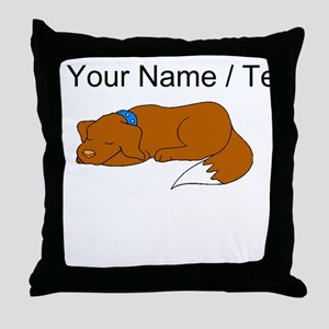 Dog Sleeping (Custom) Throw Pillow