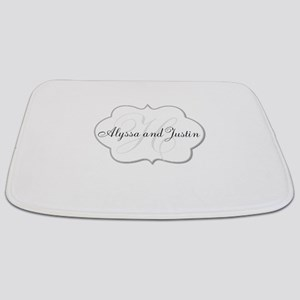 Elegant Monogram and Name Design Bathmat