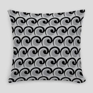 Art Deco Curls Gray Master Pillow