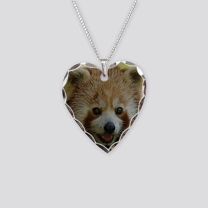 Red Panda Necklace Heart Charm