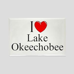 """""""I Love Lake Okeechobee"""" Rectangle Magnet"""