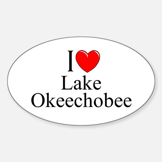 """I Love Lake Okeechobee"" Oval Decal"