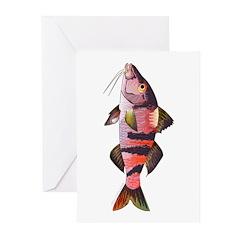 Manybar Goatfish Greeting Cards