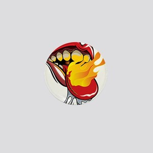 Soyracha Flaming Tongue Mini Button