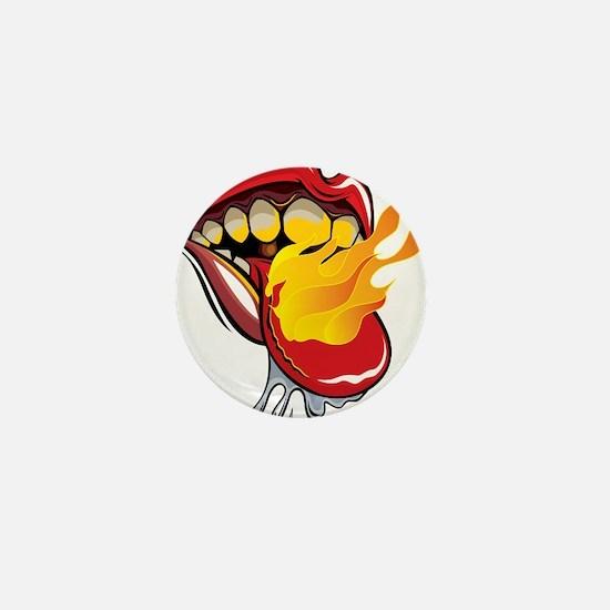 Soyracha Flaming Tongue Mini Button
