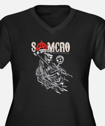 SAMCRO 2 Women's Plus Size V-Neck Dark T-Shirt