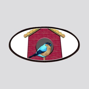 Bluebird on Barn Red House Patches