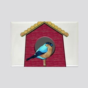 Bluebird on Barn Red House Magnets