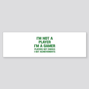 I'm Not A Player I'm A Gamer Sticker (Bumper)