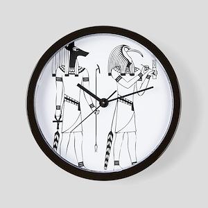 Anubis thoth Wall Clock