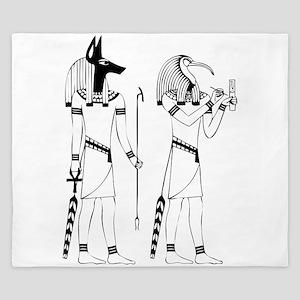 Anubis thoth King Duvet