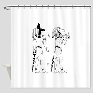 Anubis thoth Shower Curtain