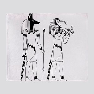 Anubis thoth Throw Blanket