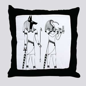 Anubis thoth Throw Pillow