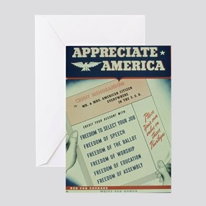 world war 2 poster art Greeting Cards