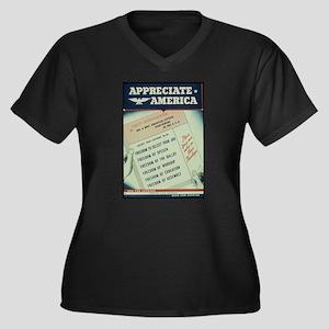 world war 2 poster art Plus Size T-Shirt