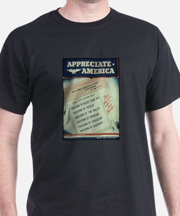 world war 2 poster art T-Shirt