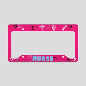 Pink Nurse License Plate Holder