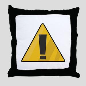 Traffic Sign Throw Pillow