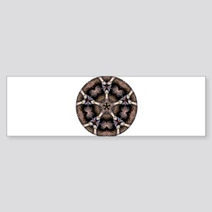 Striped Star of Seashells Mandala i Bumper Sticker