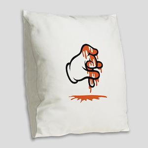 Blood Gang Burlap Throw Pillow