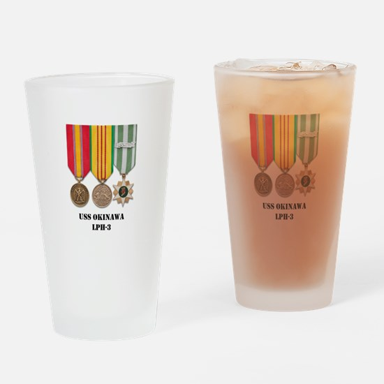 USS Okinawa Drinking Glass