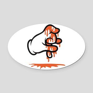 Blood Gang Oval Car Magnet