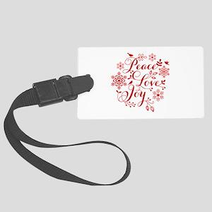 Peace, Love, Joy Luggage Tag