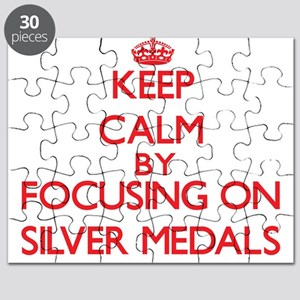 Keep Calm by focusing on Silver Medals Puzzle