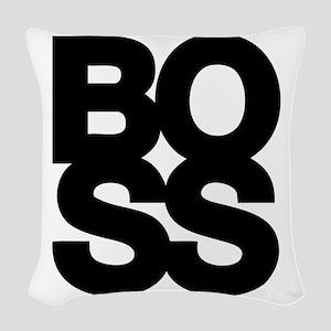 Boss Woven Throw Pillow