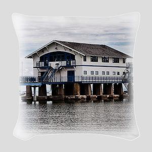 Boathouse 4 Woven Throw Pillow