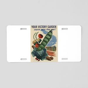 world war 2 poser art Aluminum License Plate