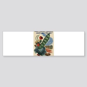 world war 2 poser art Bumper Sticker