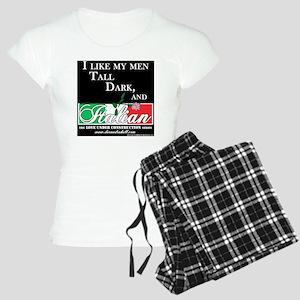 Tall, Dark, Italian 2 Women's Light Pajamas