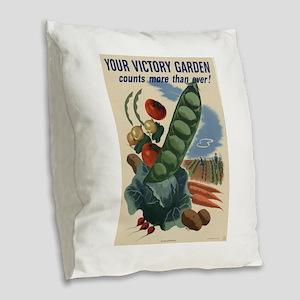 world war 2 poser art Burlap Throw Pillow