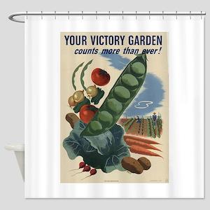 world war 2 poser art Shower Curtain