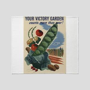 world war 2 poser art Throw Blanket