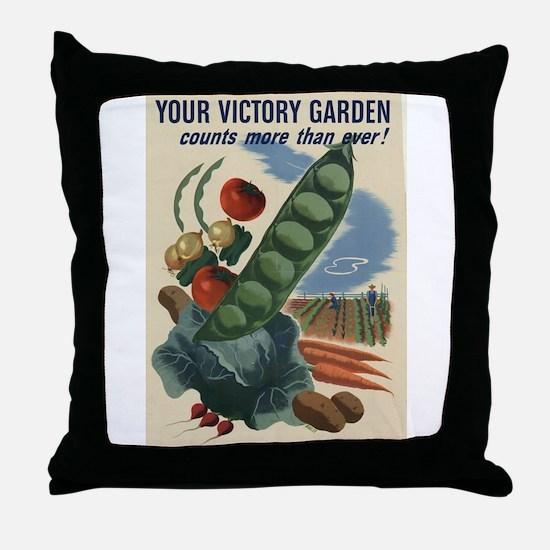 world war 2 poser art Throw Pillow