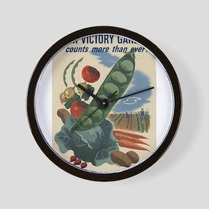 world war 2 poser art Wall Clock