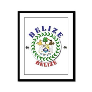 Belize Framed Panel Print