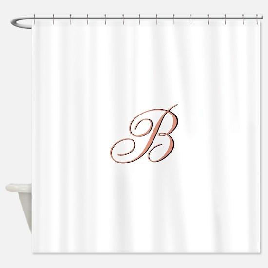 Elegant Initial Shower Curtain