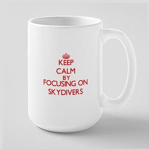 Keep Calm by focusing on Skydivers Mugs