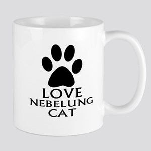 Love Nebelung Cat Designs 11 oz Ceramic Mug