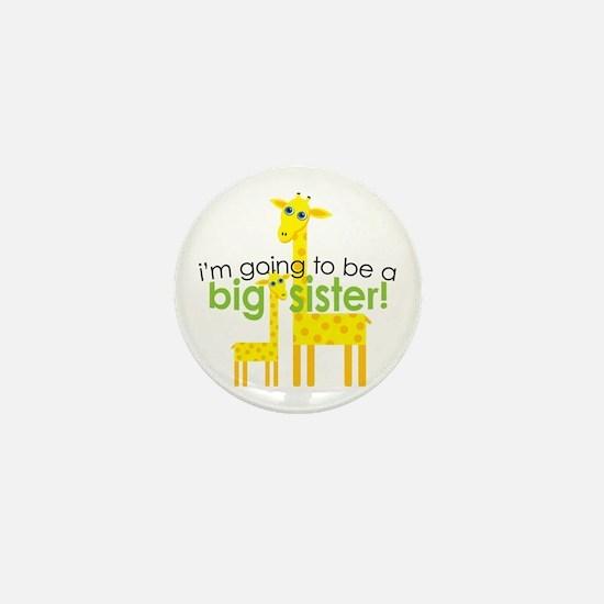 Big Sister To Be Giraffes Mini Button