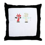 Angel Meets Devil Throw Pillow