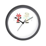 Angel Meets Devil Wall Clock