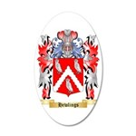 Hewlings 35x21 Oval Wall Decal