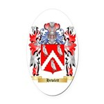 Hewlett Oval Car Magnet